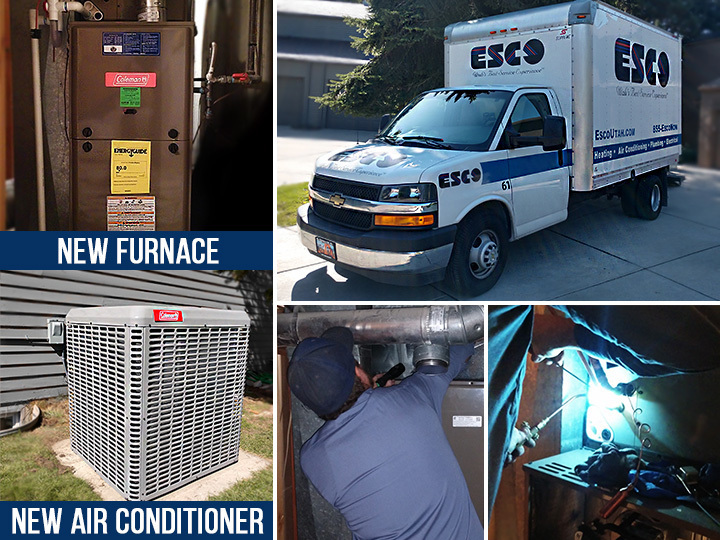 ESCO Recent Furnace and AC Replacement Install
