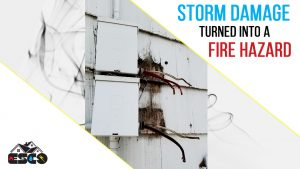Electrical Fire Hazard Created from Storm Damage In Salt Lake Valley