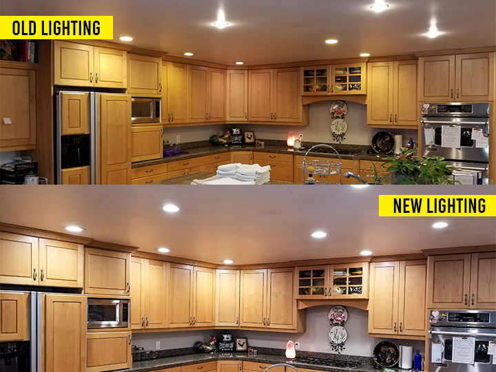 ESCO Canned Lighting Before & After
