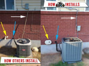 example of how ESCO installs vs other companies that don't do the job right