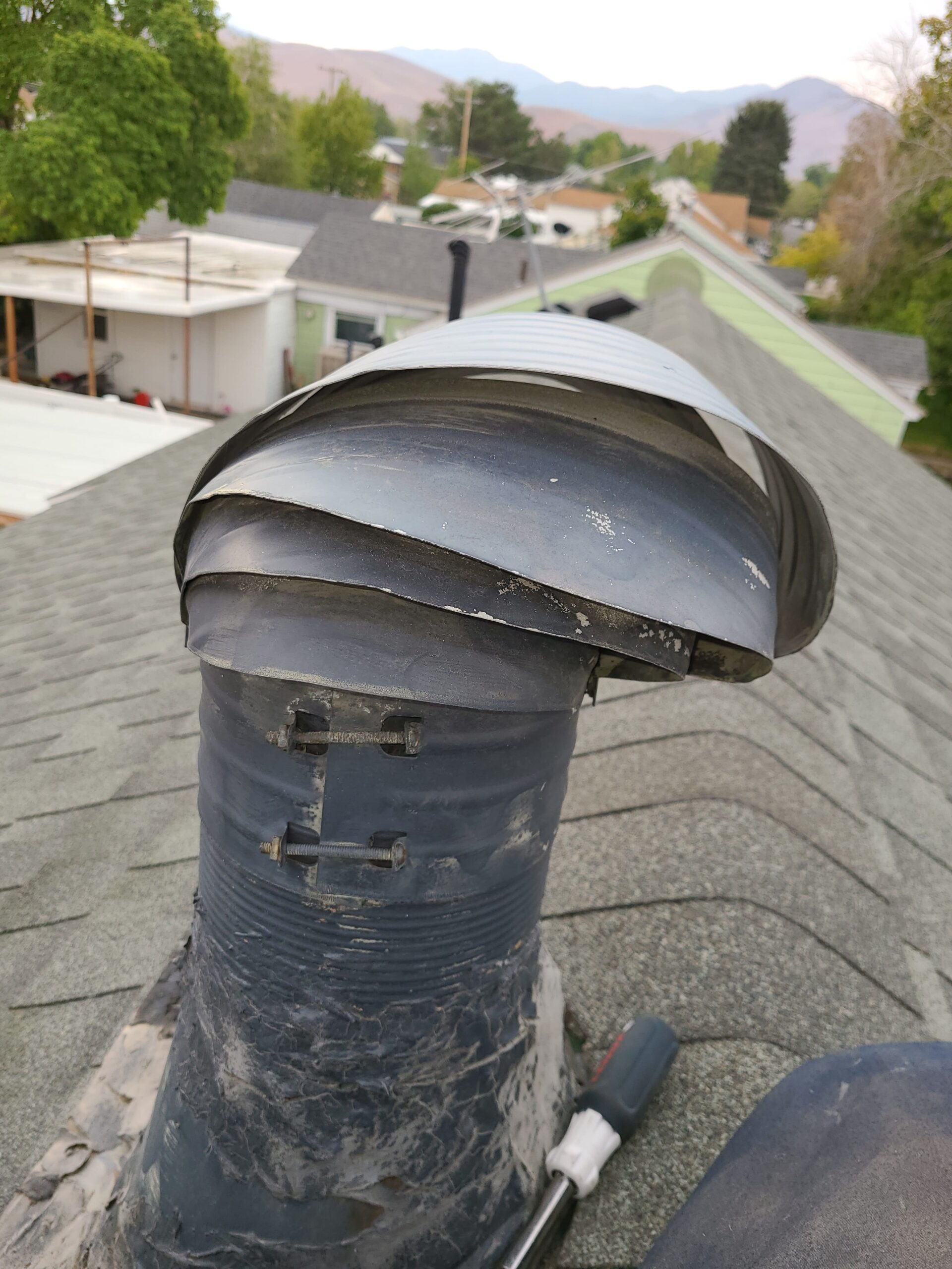 Old furnace exhaust